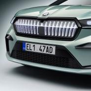 Gibt's nur am Škoda Enyaq: ein beleuchteter Kühlergrill