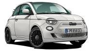 Der Fiat 500 E Cabriolet