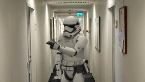 Und plötzlich steht ein Stormtrooper im Büro