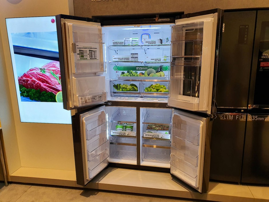 LG ist in Deutschland Markführer bei den Side-by-Side-Kühlschränken