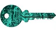 Elektronischer Schlüssel mit digitalem Sicherheitskonzept (Symbolbild).