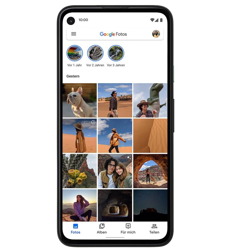 Eine von vielen Google-Anwendungen: Fotos