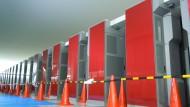 Supercomputer in Klimaforschungsdiensten: Der japanische K-Supercomputer mit 672 Racks und fast 70.000 Prozessoren