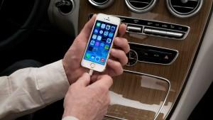 Das iPhone fährt mit