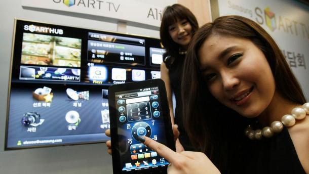 Der Fernseher als Riesen-Smartphone