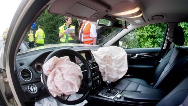 Im Airbag ist noch jede Menge Luft