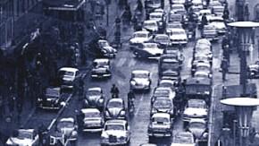 Stau in Frankfurt 1958