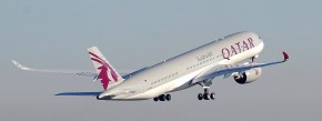 Start in Toulouse: Der A350 von Qatar Airways