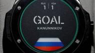 Da war Hublot zurückhaltend, als das Foto gemacht wurde. Ein Gegentor haben die Russen nicht bekommen und noch weitere vier geschossen.