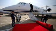 Die Gulfstream schafft es in rund 15 Stunden von Arizona nach Singapur.