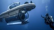 Tauchkapsel für tiefe Gewässer: Der Druckkörper der Kapsel ist aus Edelstahl gefertigt, das Kameraauge mit großem Blickwinkel aus Plexiglas