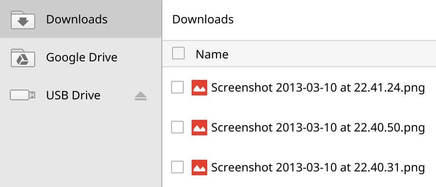 In dieser App werden Dateien lokal verwaltet