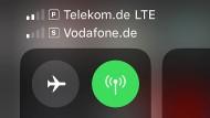 Primär mit der Telekom im Netz, sekundär mit Vodafone.