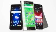 HTC U11, Sony Xperia Premium XZ und Motorola Z2 Play