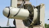 Die Turbine lässt sich mit einem Kran hochheben