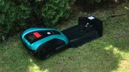Der Mähroboter Indego 400 von Bosch