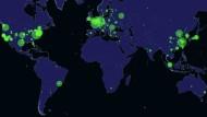 So verteilen sich die offenen MongoDB-Datenbanken weltweit