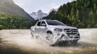 Krabbeltier: Der Mercedes-Benz X ist unter den Pick-ups im Serienzustand der geländegängigste.