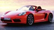 Kommt mit nur noch vier Zylindern daher: Der neue Porsche 718-Boxster.