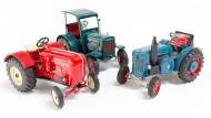 Feines Blech: Kovap aus Tschechien produziert wieder Traktorenmodelle als klassische Blechspielzeuge. Hier waren Porsche Diesel, Hanomag und Lanz die Vorbilder.