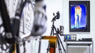 Ein schöner Rücken: Phasenverlaufsmessungen der Wärmeentwicklung und Schweißausbreitung mit der Wärmebildkamera unter 45-Minuten-Vollbelastung.