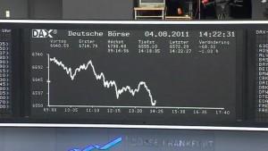 Börsen in Aufruhr