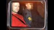 Anders Breivik in Gewahrsam der Polizei