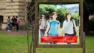 Offensive Werbung: Die Hochschule Anhalt in Köthen (Sachsen-Anhalt) freut sich über ausländische Studierende. Doch Ostdeutschland wird als Ziel unattraktiver.