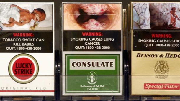 Schock-Fotos gegen das Rauchen