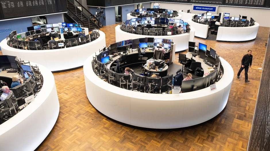 Handelssaal der Deutschen Börse im Oktober 2019 - vor Corona
