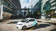 Das erste selbstfahrende Taxi der Welt wird im tropischen Stadtstaat Singapur erprobt.