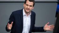 Gegen eine dehnbare Schuldenbremse: Johannes Vogel (FDP) in der Plenarsitzung im Bundestag.