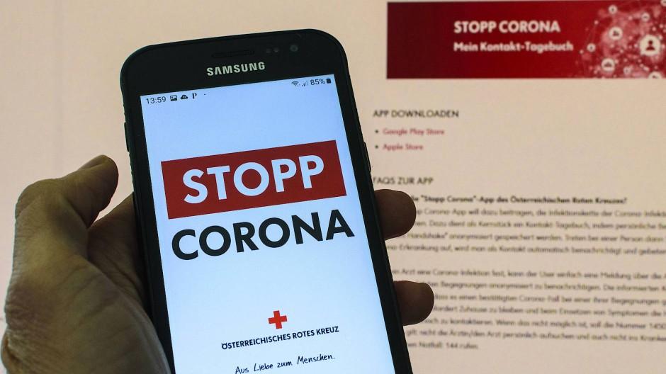 """In Österreich gibt es eine """"Stopp-Corona-App"""" schon."""