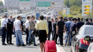 Taxifahrerprotest gegen Uber eskaliert