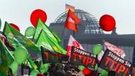 Werden die TTIP-Gegner am Ende gewinnen? Bisher sieht es schlecht für einen Abschluss des Handelsabkommen aus.