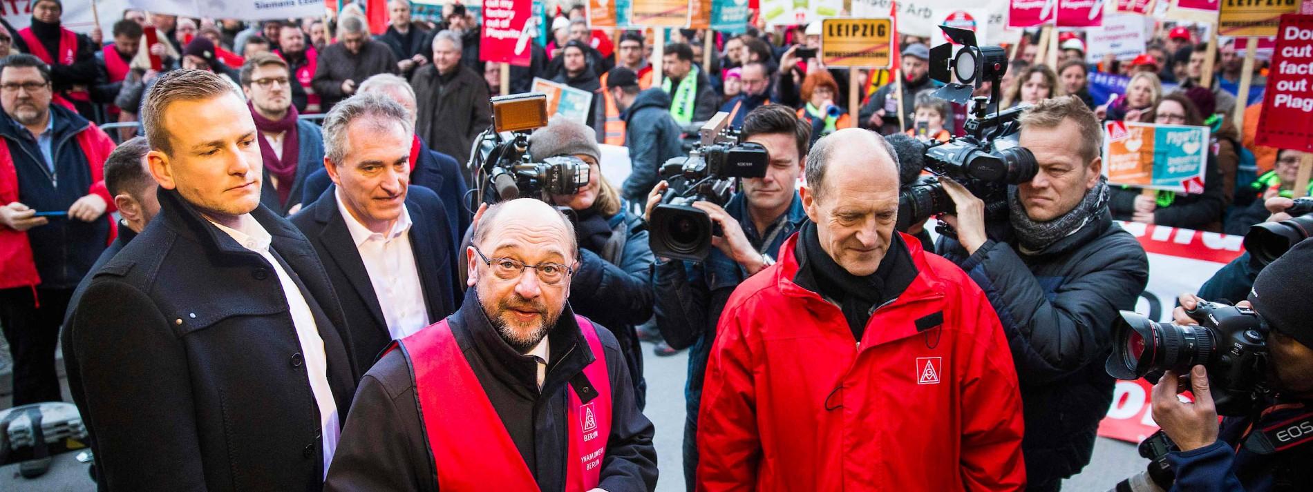 Siemens-Chef Kaeser keilt gegen Schulz zurück