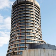 BIZ-Turm in Basel: Die Bank der Zentralbanken wacht über die Geldpolitik.