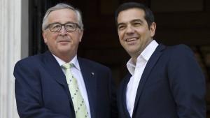 """Juncker: Griechenland wird bald ein """"normales"""" Euroland sein"""