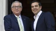 Jean-Claude Juncker besucht heute Alexis Tsipras in Athen.