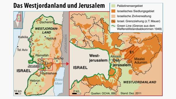 Das Westjordanland und Jerusalem (Aktualisierung II 3.12.) (ai-eps)