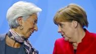 Merkel trifft Lagarde