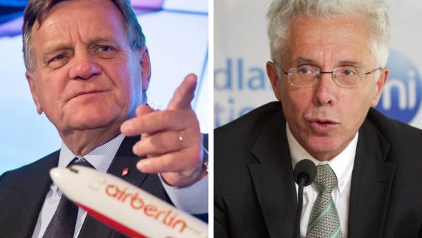 Wolfgang Prock-Schauer und Hartmut Mehdorn