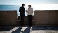 Die Kanzlerin und der Premierminister von Portugal, Pedro Passos Coelho, in Lissabon.