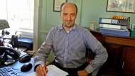 Richard Werner in seinem Büro an der Universität Southampton in Großbritannien.