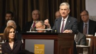 Jerome Powell sprach am Mittwoch vor dem Economic Club of New York.