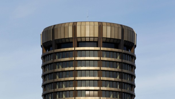 A general view shows of the headquarters of the Bank for International Settlements in Basel