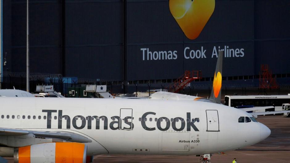 Ein Thomas Cook-Flieger Im September in Manchester