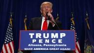 Erst vor wenigen Tagen versprach Donald Trump den amerikanischen Bürgern im Falle seiner Wahl erhebliche Steuergeschenke.