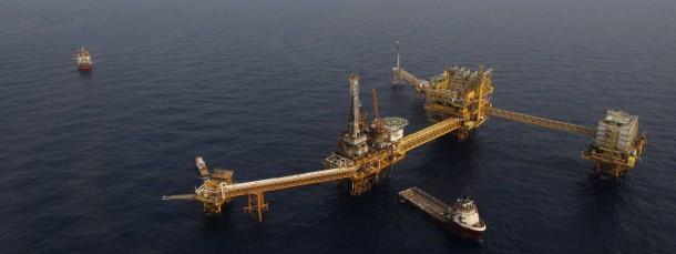 Ölplattform im Golf von Mexico