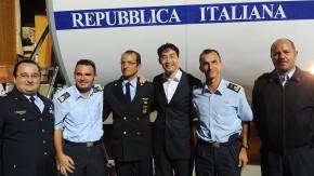 Rösler und das Gruppenfoto mit der italienischen Mannschaft
